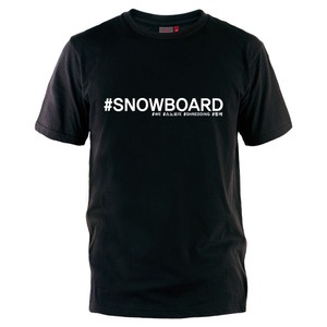#SNOWBOARD - T Shirt
