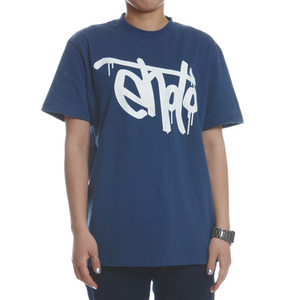 SIGNATURE TEE - D.Blue & White