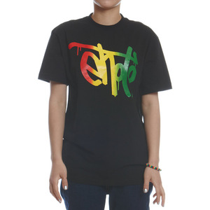 SIGNATURE TEE - Black & Rasta