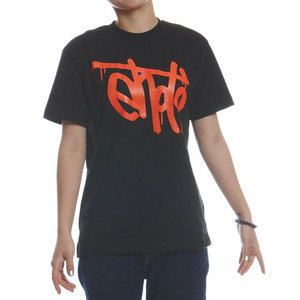 SIGNATURE TEE - Black & Orange