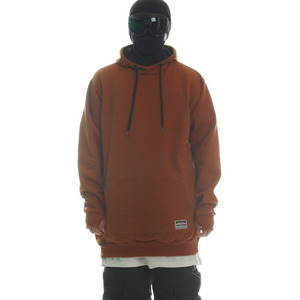 PLAIN HOODIE - COPPER BROWN
