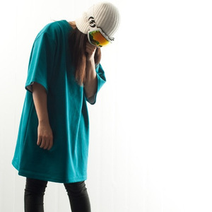 PLAIN TEE - Bluegreen